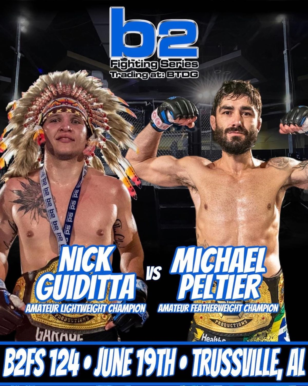 Garage Kickboxing b2 Fighting Series B2FS 124 June 19 in Trussville AL Featuring Nick Guiditta vs Michael Peltier